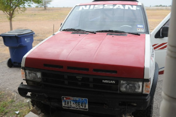 1988 Nissan Desert Runner 4x4 undergoing restoration - photo by jeff barrin