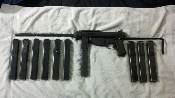 M3A1 Grease Gun, .45ACP caliber, Valkyrie Arms semi-auto receiver